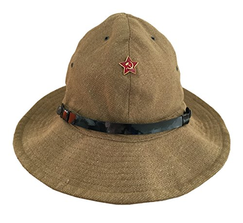 Ganwear® Russische sowjetische Armee Militär Afghanistan Kriegsuniform Panama Boonie Hutkappe Roter Stern Abzeichen