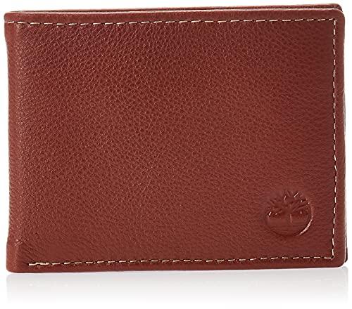 Timberland Uomini Wellington RFID in Pelle Il Blocco Esclusivo Portafoglio Sicurezza Commuter Wallet (Cognac)