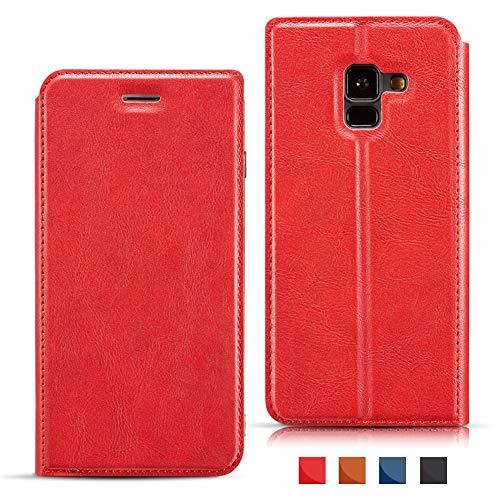 EATCYE Custodia iPhone 6S Plus,Cover per iPhone 6 Plus,Folio Flip Stile PU Pelle Portafoglio Ultra Sottile con Magnetic Closure Paraurti per Apple iPhone 6S Plus iPhone 6 Plus 5,5 Pollici (Rosso)