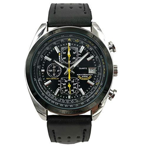 SqSYqz Stilvolle Armbanduhr für Männer, Uhren, perfekten Quarzwerk, wasserdicht und Kratzfest, Analog Chronograph Quarz-Geschäfts-Uhren,D
