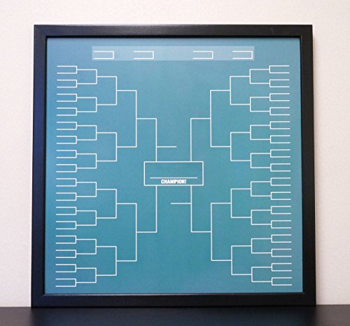 "Green Chalkboard 72 Team Sports Tournament Bracket Dry Erase Board Whiteboard Reusable 24""x24"""