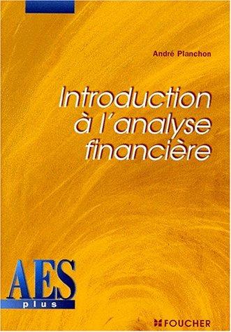 Introduction à l'analyse financière, DEUG AES