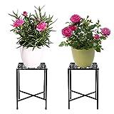 SUMTREE Taburete de hierro vintage para plantas, escaleras de flores, estantería de...