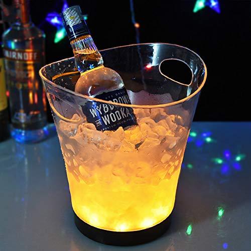 YAYONG Ice Bucket LED Ice Bucket Enfriador De Vino De 5L a Prueba De Agua-Cambio De Color-Ice Bucket Cooler Cubos De Hielo para Bar Utilizados para KTV Party Bar, Home Wedding Banquet