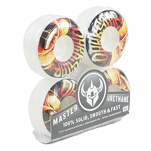 Darkstar Blast Skateboard Wheels White 53mm Enough For Setup by Darkstar