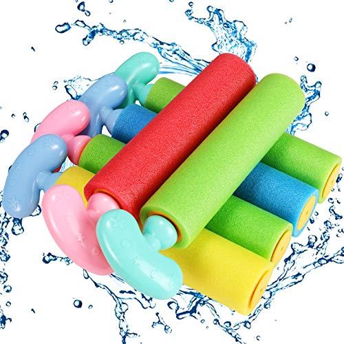 Pistola de Agua, joylink 6PCS Pistola de Agua de Espuma, Coloridas EVA Pistola de Agua Juguetes, Water Gun para Niños y Adultos Piscina Playa Regalo Juego de Verano