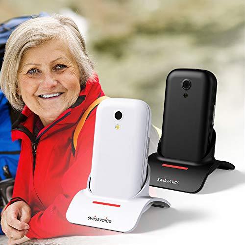 SwissVoice S24 2G Senioren-Klapp-Handy SOS Taste Weiß
