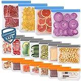 Dishwasher Safe Reusable Food Storage Bags 18 Pack ( 4...