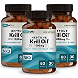 Neptune Krill Oil 1000mg by DailyNutra - High Absorption Omega-3 EPA...