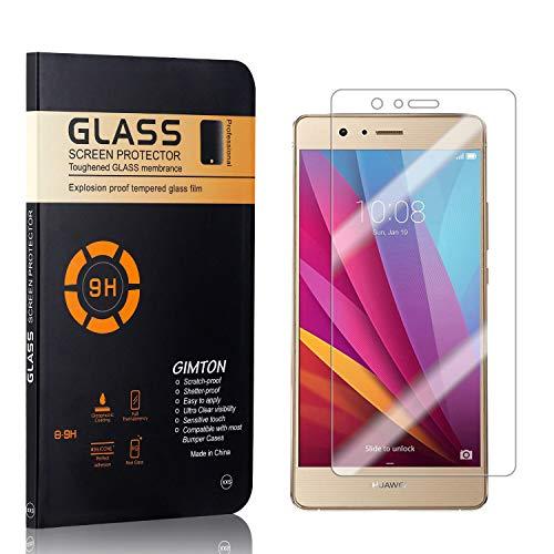 GIMTON Displayschutzfolie für Huawei P9 Lite, 9H Härte, Blasenfrei, Anti Öl, Ultra Dünn Kratzfest Schutzfolie aus Gehärtetem Glas für Huawei P9 Lite, 1 Stück