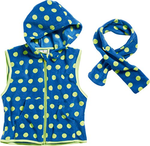 Playshoes baby-meisjes vest Fleece-Weste Punkte mit Schal