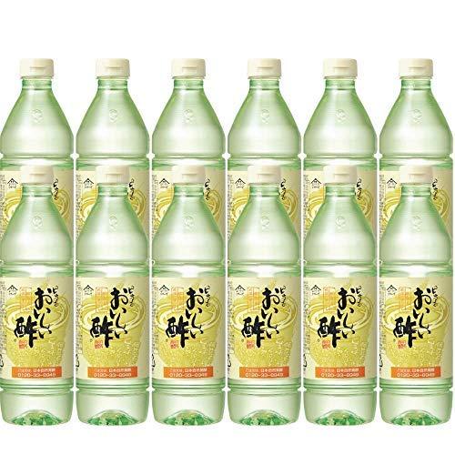 日本自然発酵 おいしい酢 900ml 12本セット ペットボトル | 健康 飲料 まろやか ドリンク 料理 甘酢 果実酢配合 美味しい 飲める 国産