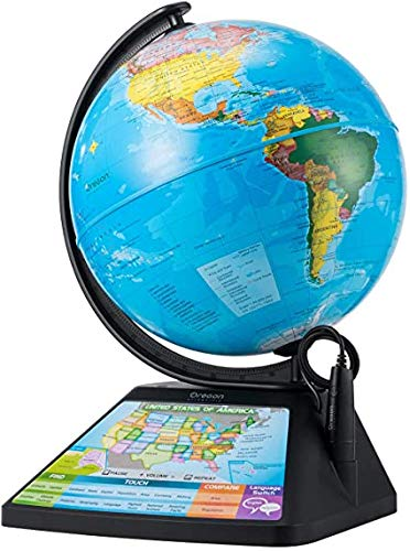 Oregon Scientific SG268R_K Educational Learning Smart Globe for Home School World Geography Toy with Games, Countries & Tons of Fun Facts