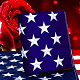 Kerothen American Flag 5x8 USA Flag - Made in USA Outdoor Us-Flags Large Sewn Nylon American Flag with Embroidered American Flag Outside Hanging Weatherproof Standard American Flag