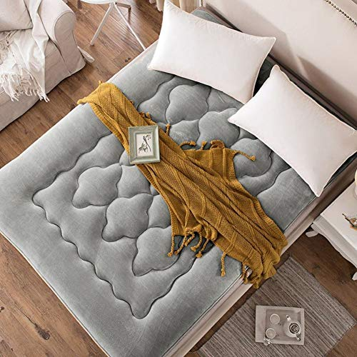 JYMBK Thick Tatami Mattress Ultra Soft Breathable Japanese Futon Floor Mat Portable Flannel Sleeping Pad Student Dormitory Mattress Pad Multi-purpose Gray 180x200cm(71x79inch)