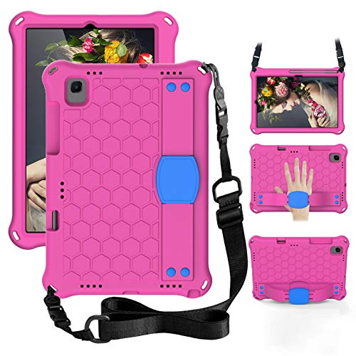 FooCase Kids Case for Samsung Galaxy Tab A7 2020, Shockproof Tablet Cover with Shoulder Strap and Stand for Samsung Galaxy Tab A7 2020 SM-T500/T505 (10.5'), 53df