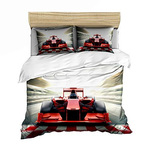 3D printed duvet cover for racing races 150x200cm + 50x75cm * 2