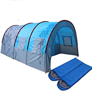 Tents Outdoor Camping Large Camping Tent Waterproof Canvas Fiberglass 5 8 People Family Tunnel 10 Person Tents Equipment O...