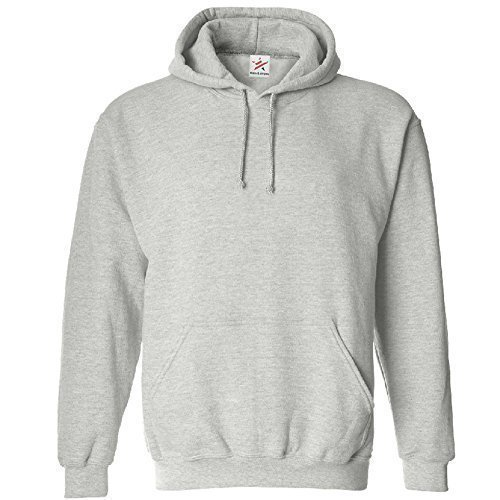 Star and Stripes arge Cassic Pain Puover Hoodie Unsex and These are Idea for Mens and adies Hooded Sweatshirt, L, Heather Grey