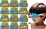 Dive Fun Kids Goggles for Swimming Sea Animals Styles Assorted (12 Packs) Diving Toys Adjustable Strap Kids Pool Swim Goggles for boys and Girls. Great Pool Toys Summer Toys. 1172-12p