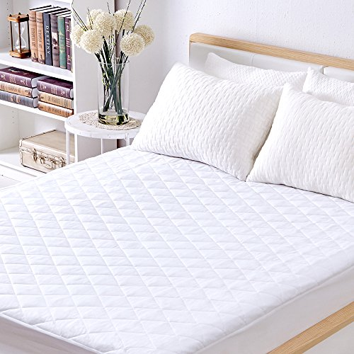 Sable Waterproof Mattress Protector, Quilted Cover Topper with FDA Down Alternative Fill, Five Side...