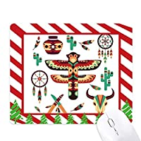 ネイティブアメリカンインディアンドリームキャッチャー ゴムクリスマスキャンディマウスパッド