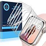 LK 6 Pezzi Pellicola Protettiva Compatibile con Apple Watch Series 7 45mm Series 6 Series 5 Series 4 SE 44mm,Sensibile al tatto, Senza Bolle, HD Trasparente TPU Pellicola, LK-X-72