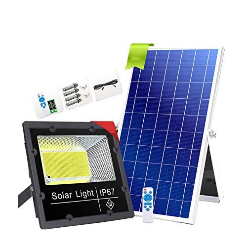 Foco Solar Led Exterior, IP65 Foco Solar Proyector A Prueba De Agua ,Con Resalte LED Lámpara Perlas Luces Solares de Inundación Al Aire Libre Para Granero, Jardín, Cobertizo, Bande(Size:180Lamp beads)