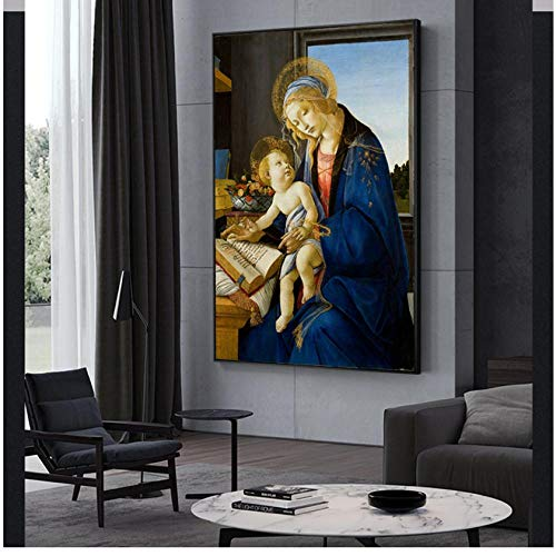 The and Child Canvas Paintings On The Wall La Virgen del Libro Pinturas Famosas Reproducción Decoración