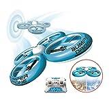 Silverlit Flybotic by Bumper Drone enfant Antichoc-mode sans tête, atterrissage et décollage sur l'eau-Modèle Aléatoire Bleu ou Vert-Utilisation Intérieure/extérieure, 84807