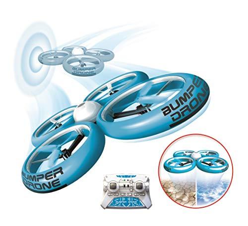 Flybotic by Silverlit – Bumper Drone antiurto 40 cm, modello casuale, blu o verde, per uso interno ed esterno