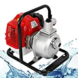 DiLiBee Pompa acqua Benzina 43cc 8000L / h 1.7hp Motore a benzina Pompa acqua ad alto flusso di irrigazione Volume volume Attrezzo da giardino 2 tempi
