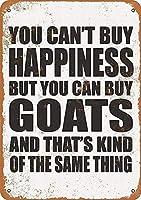 幸せは買えない メタルポスタレトロなポスタ安全標識壁パネル ティンサイン注意看板壁掛けプレート警告サイン絵図ショップ食料品ショッピングモールパーキングバークラブカフェレストラントイレ公共の場ギフト