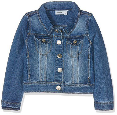 NAME IT Mädchen NITSTAR RIKA DNM Jacket NMT NOOS Jacke, Blau (Medium Blue Denim), 164