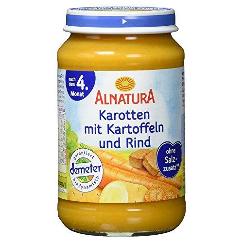 Alnatura Demeter Bio Karotte-Kartoffel-Rind, glutenfrei, 6er Pack (6 x 190 g)