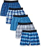 Hanes Boys' Boxer 5 Pack, Tartan, Small (Colors may vary)