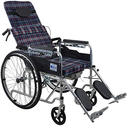 WXDP Asistente autopropulsado con almohada desmontable y bandeja de cama, plegable ligero s con cómoda para personas mayores