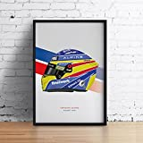 Poster Fernando Alonso 2021 Formel 1 Helm, 20 x 30 cm