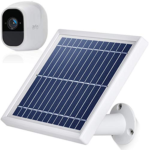 iTODOS Solar Panel Compatible with Arlo Pro 2, 11.8Ft Outdoor Power Charging Cable and Adjustable Mount,Not for Arlo and Arlo Pro(Silver)