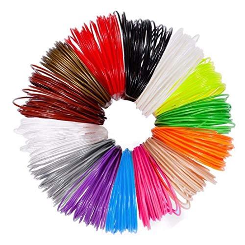 LAANCOO 3D Pen Refills High Temperature 1.75MM PLA 3D Printer Filament Refills 12PCS