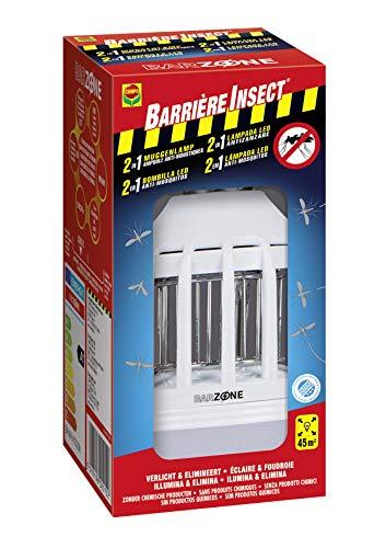 Barrière à Insectes Anti-moustiques Barrière Ampoule 2 en 1, 8 x 8 x 16,5 cm