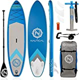 "iROCKER Nautical Inflatable Paddle Board (Blue, 10'6"")"