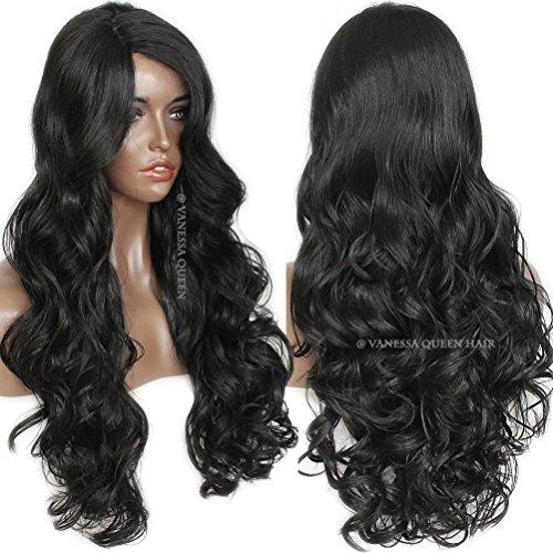 Vanessa Queen Dentelle Noir ondulés perruque de cheveux ondulés synthétique Lace Front Perruque Naturel avec Hairline pour Mode Femme