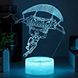 Boys Gift Night Light Loveing 3D Lllusion Lamp with Touch Switch& Acrylic Base Wedding Birthday Party Family Gathing Decor (Crack Character Gliding)