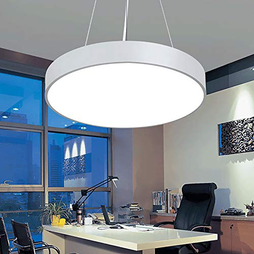 LED moderne minimalistische Deckenleuchten, Pendelleuchten, Büroleuchten, kreative runde Leuchten, Ideal für Badezimmer Schlafzimmer Küche Wohnzimmer Flur Balkon (monochrom),Weiß,Hollow 600mm