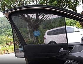 TRUE LINE Automotive Car Window Sun Shade Mesh Magnetic Visor UV Protection 2 Piece Kit