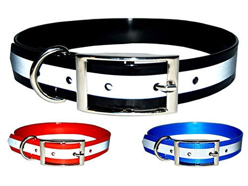 Downtown Pet Supply New Reflective Dark Dog Collar, Strong TPU Safety Collar, Suitable for Dogs or Cats, Color Black, Size Small