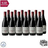 Côtes du Rhône Villages Laudun Rouge 2018 - Domaine de Rabusas - Vin AOC Rouge de la Vallée du Rhône - Cépages Grenache, Syrah, Mourvèdre - Lot de 12x75cl - Médaille Concours Mondial de Bruxelles