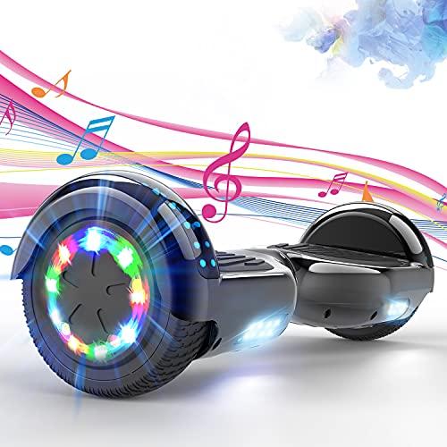 SOUTHERN WOLF Hoverboards, Hoverboard niños de 6,5 Pulgadas, Hoverboard Kart con Rueda Colorida LED y Altavoz Bluetooth, Hoverboard electrico Apto para Niños de 8 a 12 Años, Regalos para niños