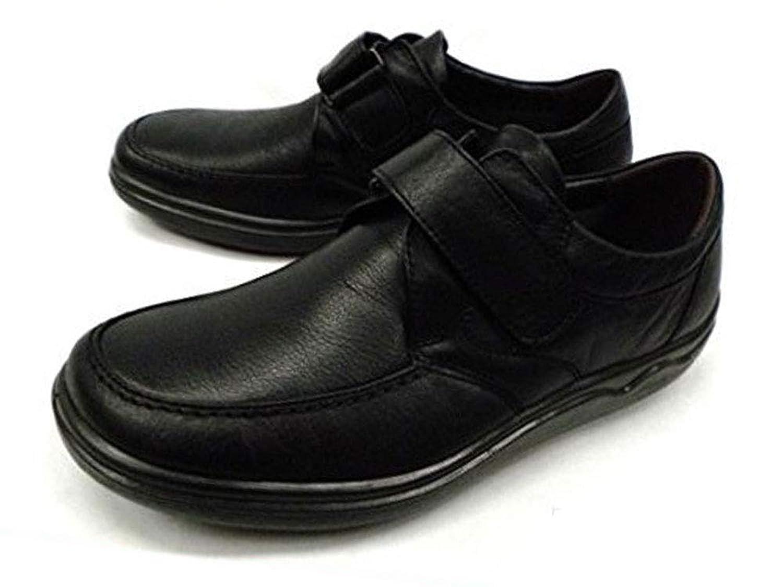 ARUKURUNアルクラン(SPALDINGスポルディング SP6378)紳士靴コンフォートウォーキングシューズ ビジネスシューズ カジュアル 本革 マジックテープ 3E[ブラック/黒]AR1103 撥水加工